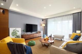 三居室北欧风格电视背景墙装修效果图