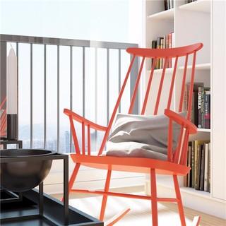 简约小户型公寓装修红色摇椅设计图