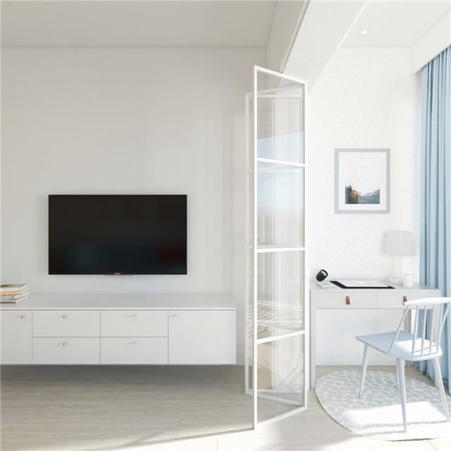 一居室小户型简约风电视背景墙装修效果图