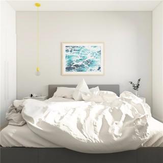 一居室小户型简约风卧室装修效果图