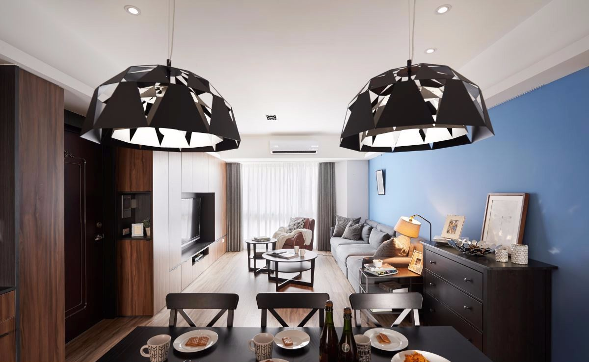 106平现代三居室装修餐厅吊灯设计图