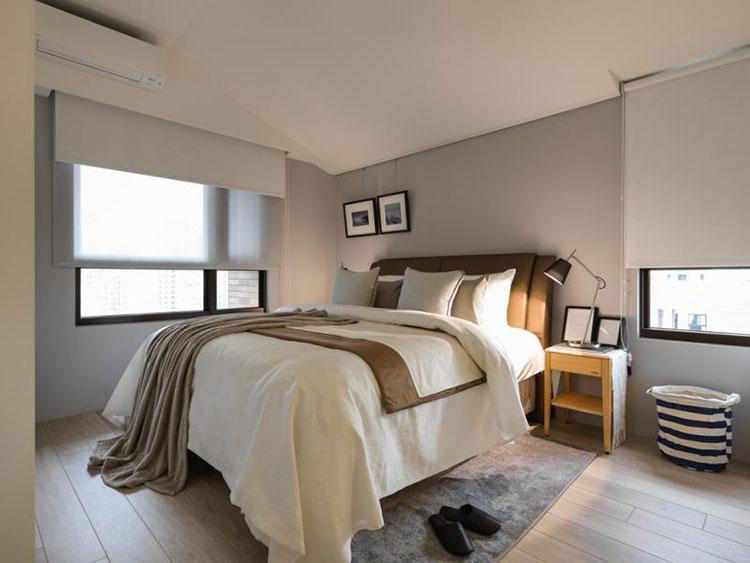 现代简约风格装修卧室装潢图