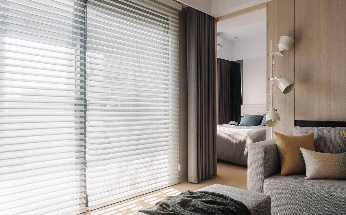 现代北欧风公寓窗帘装修效果图