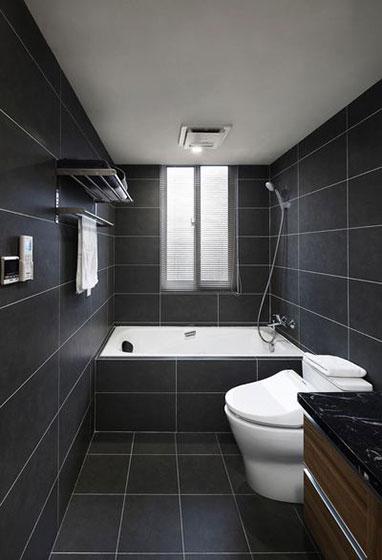 现代简约风格装修卫浴间效果图