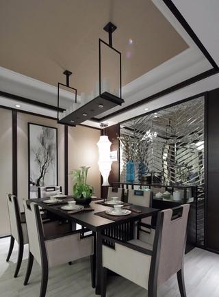 三居室新中式风格餐厅装修效果图