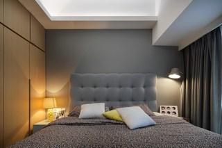 89㎡现代风三居卧室装修效果图