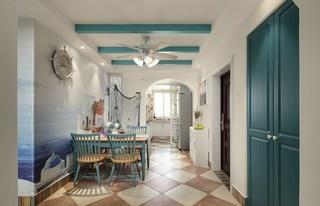 二居室地中海风格餐厅装修效果图