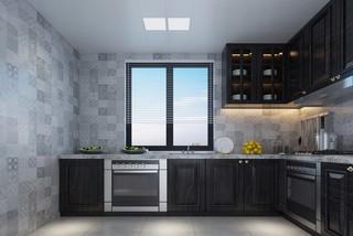 灰黑色廚房裝修效果圖