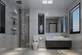 浅灰色卫生间装修效果图