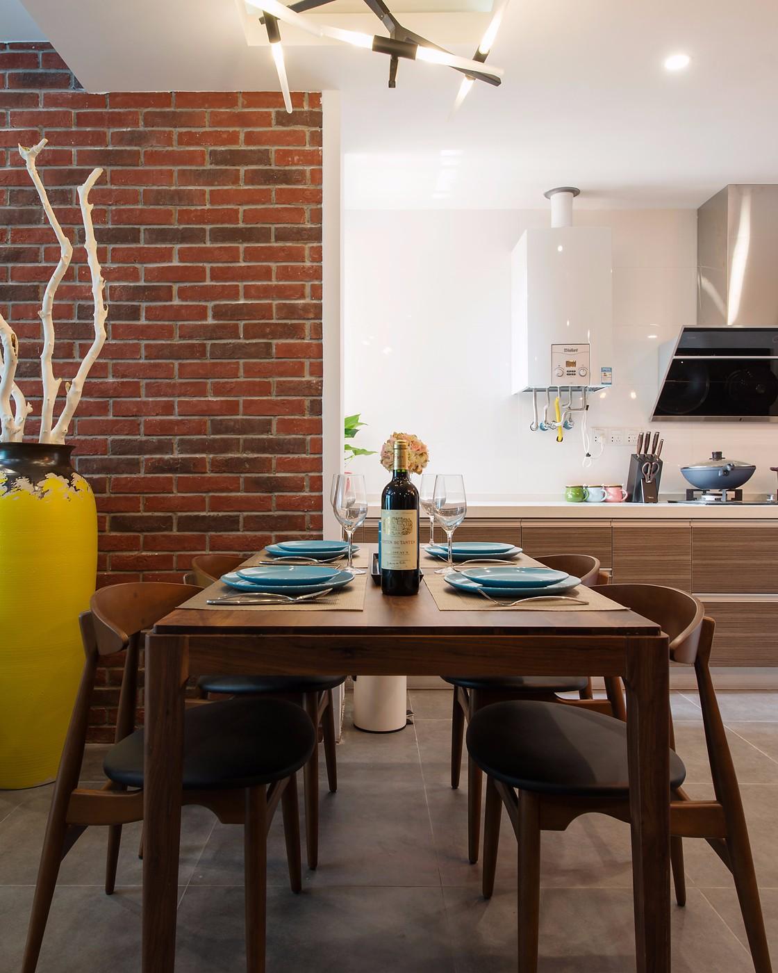 二居室混搭风格餐厅装修效果图