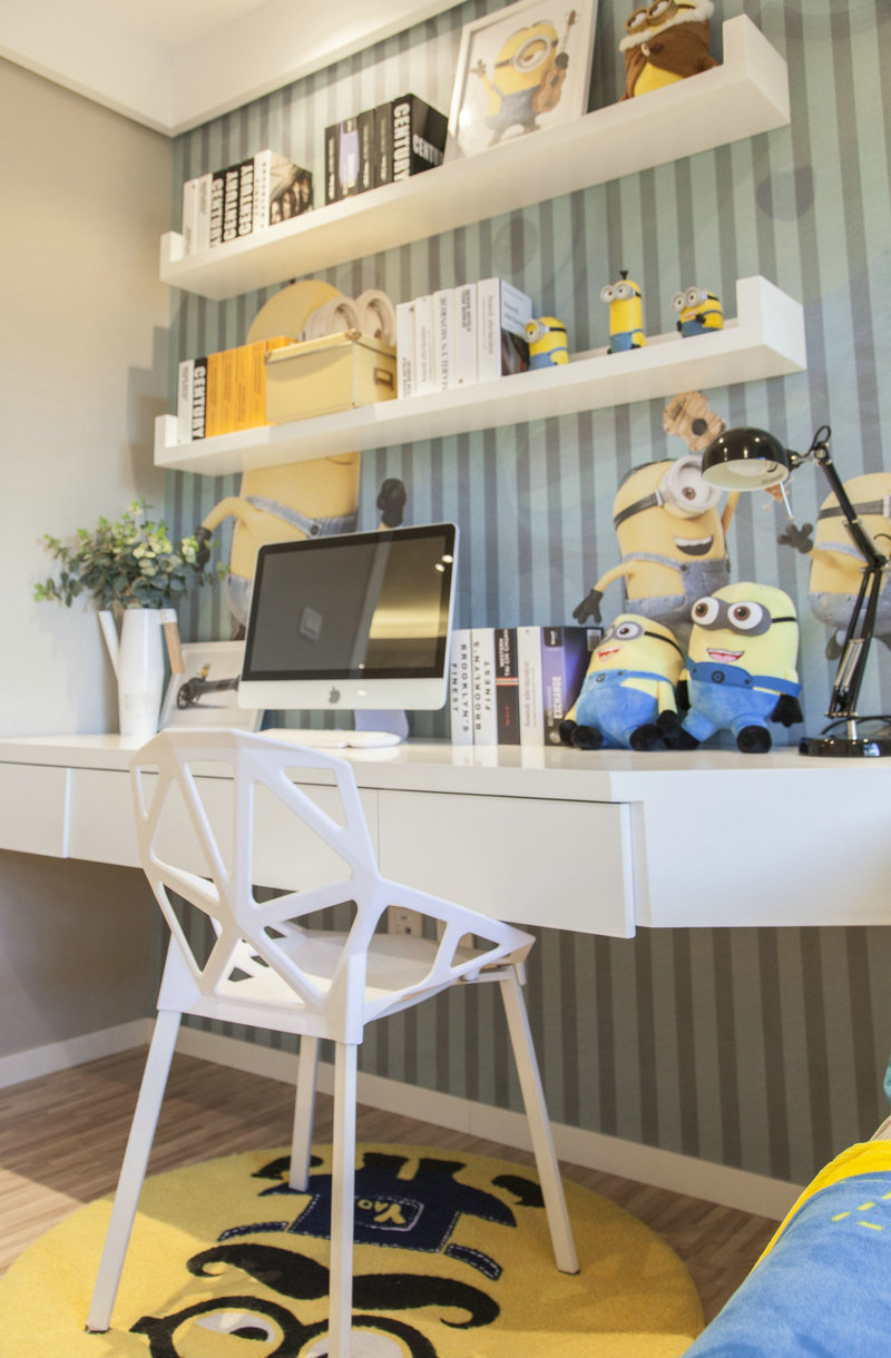 二居室北欧风书桌装修效果图