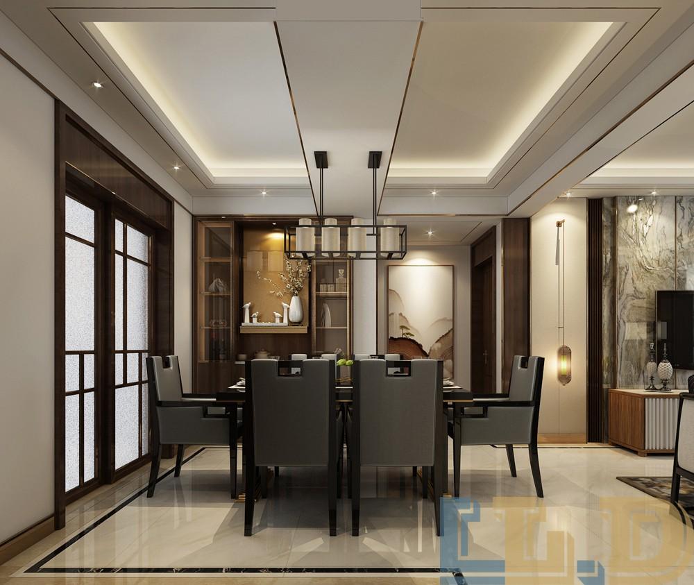 奢华新中式风格餐厅装修效果图