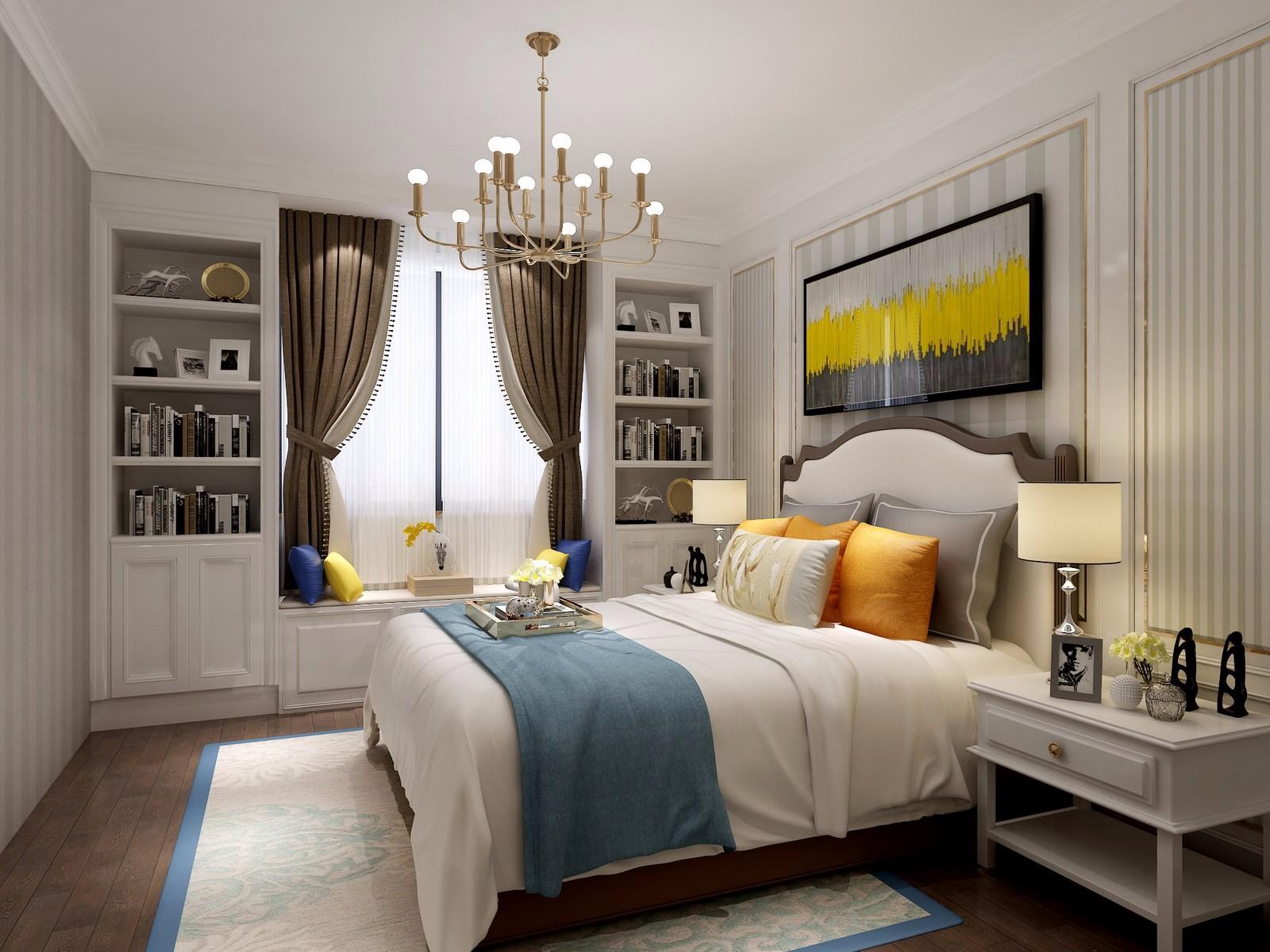 135平美式风格卧室装修效果图