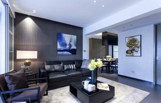 现代简约风格三居沙发背景墙装修效果图