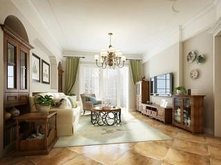 125㎡美式风格客厅装修效果图