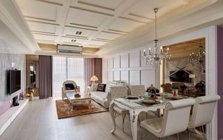 三居室简欧风格客餐厅装修效果图