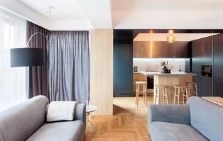 简约原木风公寓客厅装修效果图