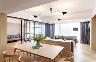简约原木风公寓客餐厅装修效果图