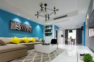 130平现代简约客厅装修效果图