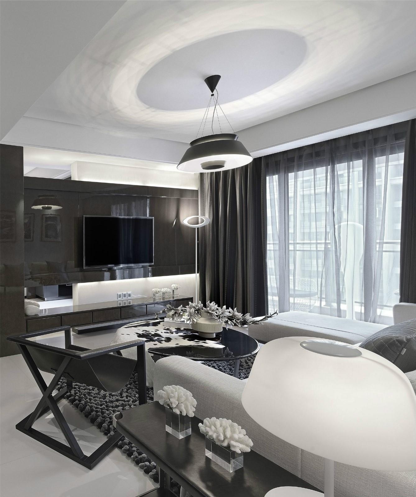 二居室现代风格客厅装修效果图