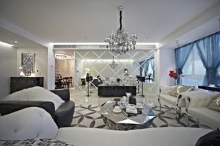 新古典三居室客厅装修效果图