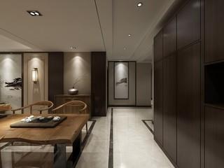 现代中式风格餐厅装修设计效果图