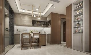 简约中式别墅厨房装修效果图