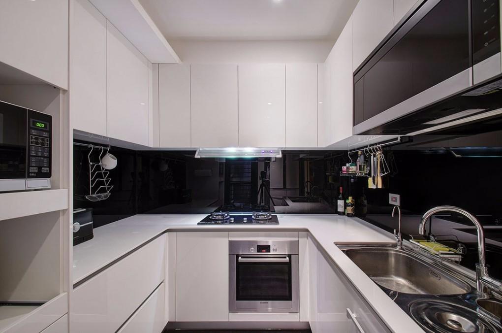 120㎡简约现代厨房装修效果图