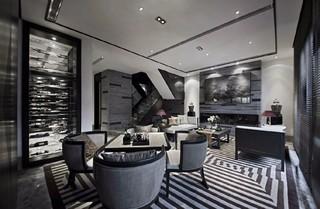 奢华新中式样板间娱乐室装修效果图