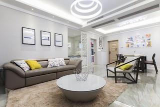 105㎡简约现代风格沙发背景墙装修效果图