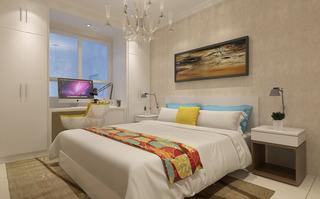 现代简约三居卧室每日首存送20