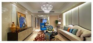 轻奢简欧风格客厅装修效果图