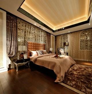 豪华欧式风格别墅卧室装修效果图