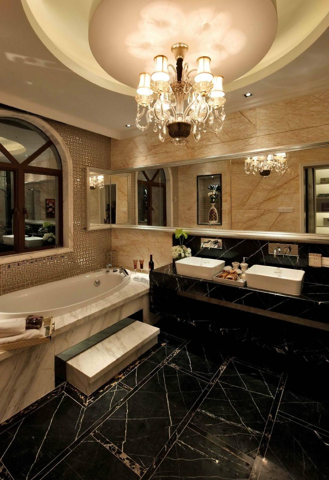 豪华欧式风格别墅卫生间装修效果图