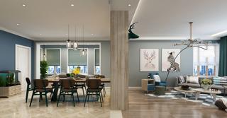 二居室北欧风格客餐厅隔断装修效果图