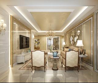 奢华欧式风格三居客厅装修效果图
