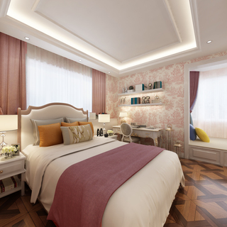 奢华欧式风格三居卧室装修效果图