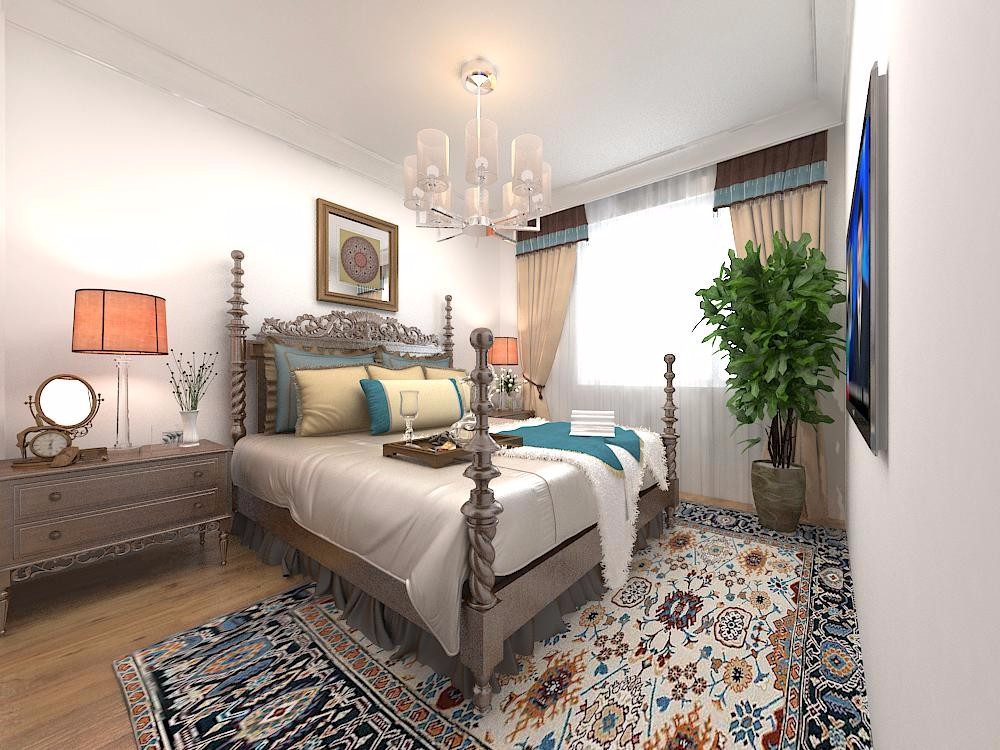 106平米三居卧室装修效果图