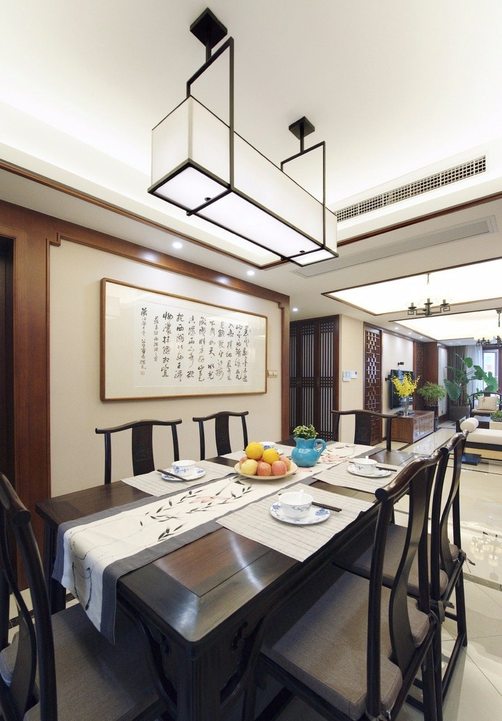 中式风格三居室餐厅装修效果图