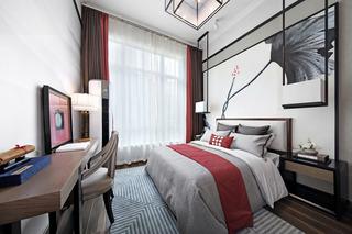 大户型新中式风格卧室装修效果图