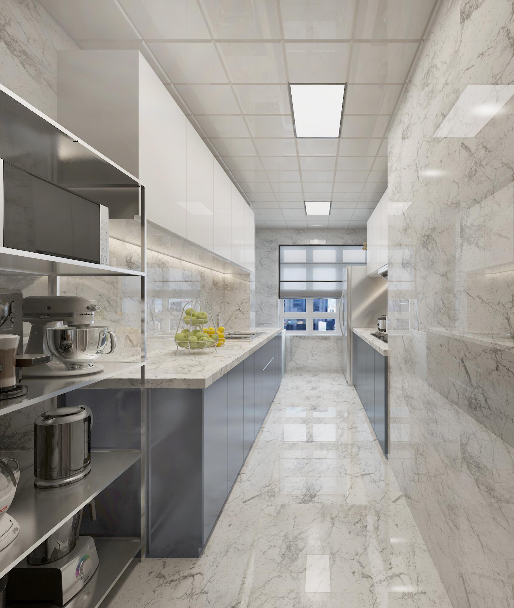 130㎡现代简约风格厨房装修效果图