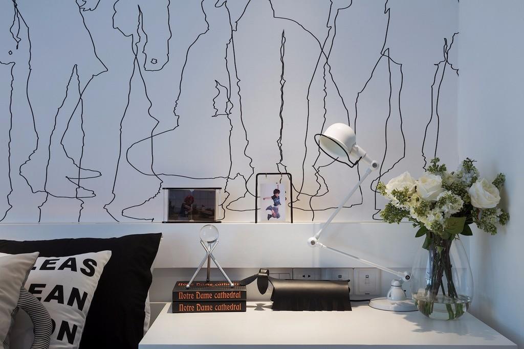 120平现代简约风书桌装修效果图