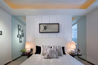 120平现代简约风床头背景墙装修效果图