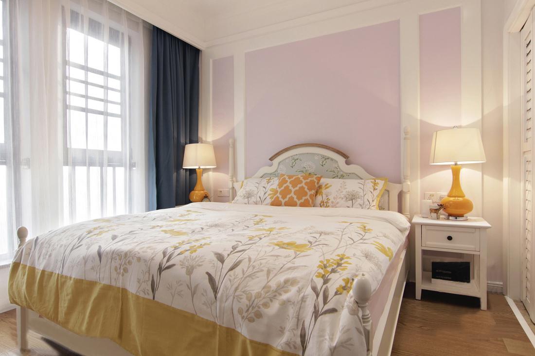 110平美式风格卧室装修效果图