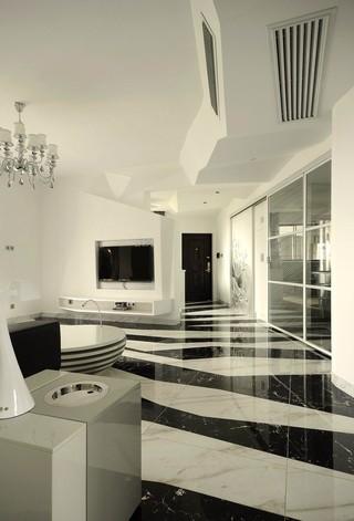 黑白简约现代风格过道装修效果图