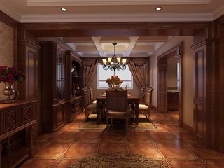 古典风格别墅餐厅装修效果图