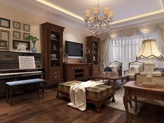 古典风格三居室客厅装修效果图