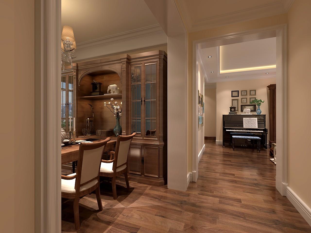 古典风格三居室过道装修效果图