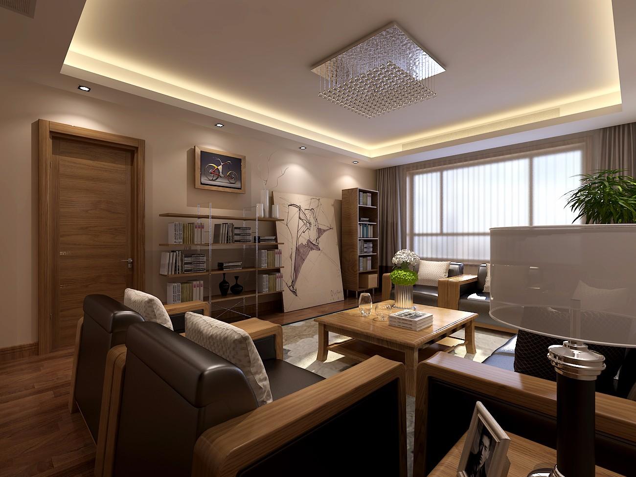 大户型现代混搭客厅吊顶装修效果图