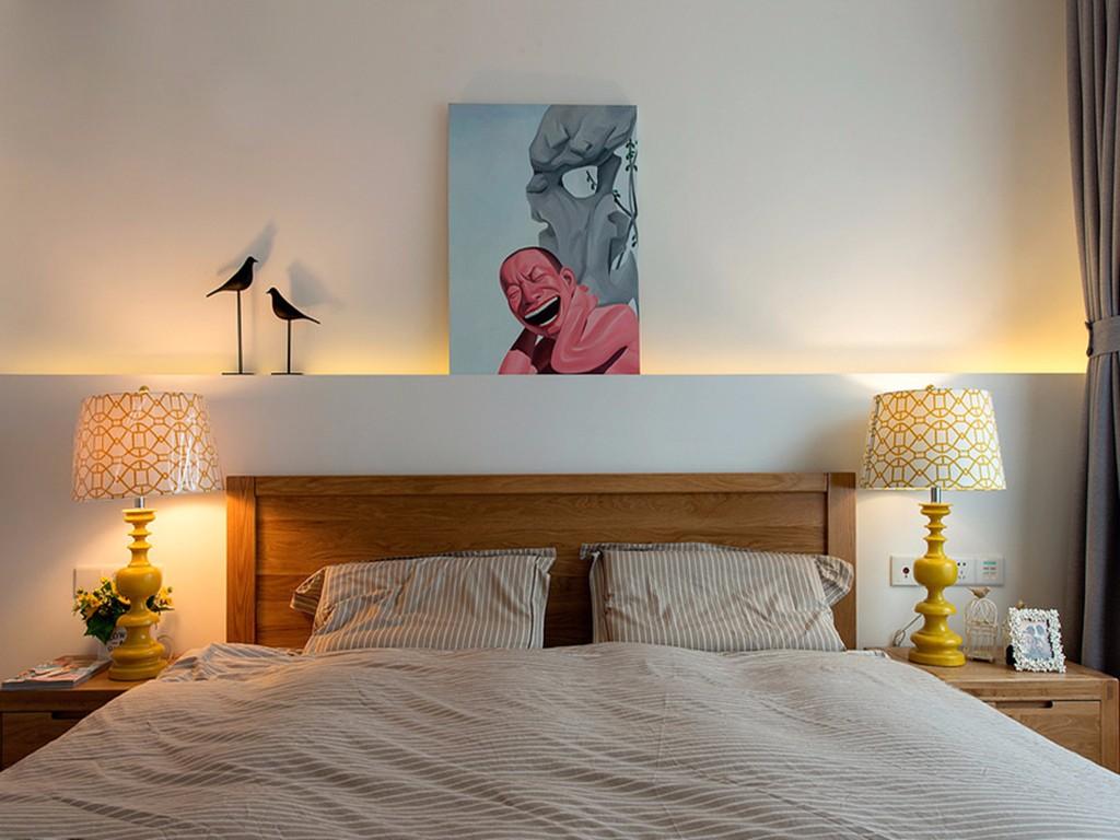 小户型二居床头背景墙装修效果图